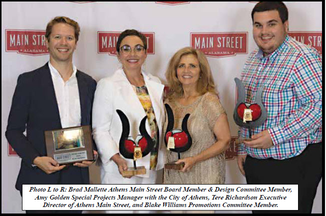 Athens Main Street Projects Recognized At Main Street Alabama Conference