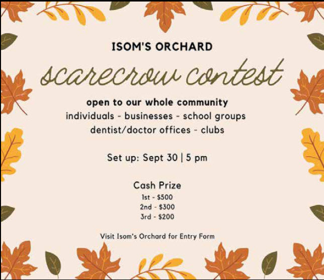 Isom's Orchard Holds Fundraiser For Alabama Veterans Museum! 3rd Annual Scarecrow Contest